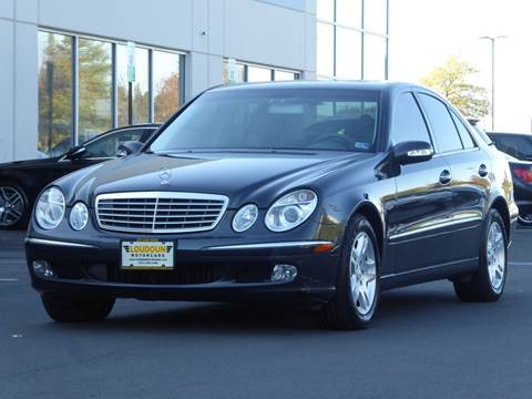 2003 Mercedes-Benz E-Class for sale at Loudoun Used Cars - LOUDOUN MOTOR CARS in Chantilly VA