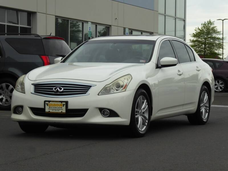 2013 Infiniti G37 Sedan for sale at Loudoun Used Cars - LOUDOUN MOTOR CARS in Chantilly VA
