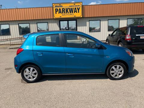 2015 Mitsubishi Mirage for sale at Parkway Motors in Springfield IL