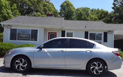 2016 Honda Accord for sale at SIGNATURES AUTOMOTIVE GROUP LLC in Spartanburg SC