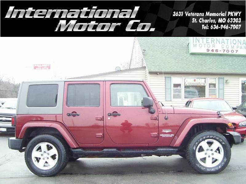 2007 jeep wrangler unlimited sahara 4x4 4dr suv in st