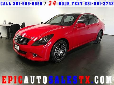 2011 Infiniti G37 Sedan for sale in Cypress, TX