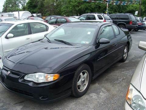 2002 Chevrolet Monte Carlo for sale at GALANTE AUTO SALES LLC in Aston PA