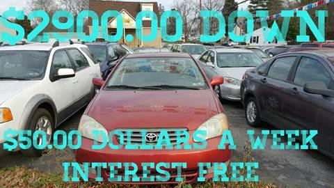 2004 Toyota Corolla for sale at GALANTE AUTO SALES LLC in Aston PA