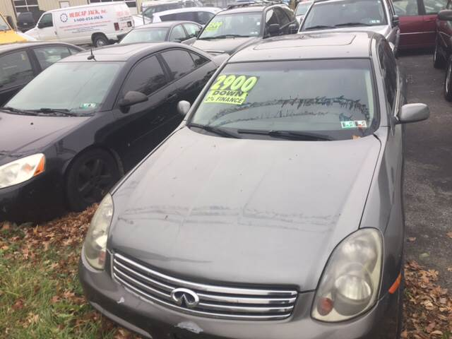 2004 Infiniti G35 for sale at GALANTE AUTO SALES LLC in Aston PA