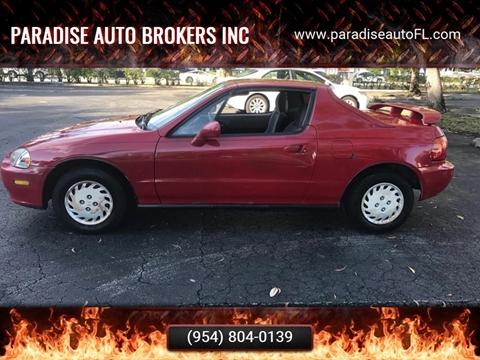 1993 Honda Civic del Sol for sale in Pompano Beach, FL