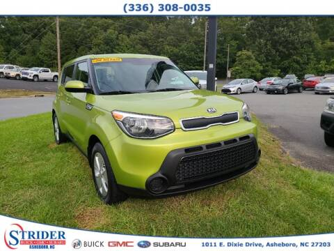 2016 Kia Soul for sale at STRIDER BUICK GMC SUBARU in Asheboro NC