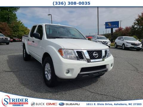 2016 Nissan Frontier for sale at STRIDER BUICK GMC SUBARU in Asheboro NC