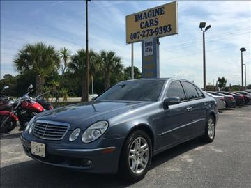 2004 Mercedes-Benz E-Class for sale at IMAGINE CARS and MOTORCYCLES in Orlando FL