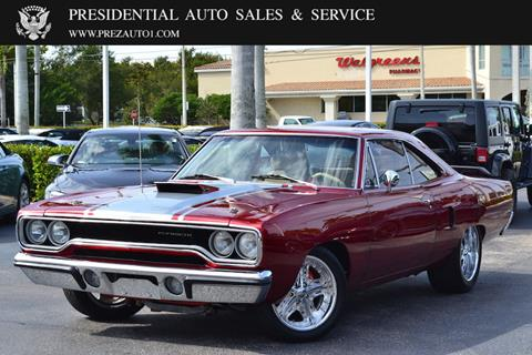 Road Runner Auto Sales >> 1970 Plymouth Roadrunner For Sale In Delray Beach Fl