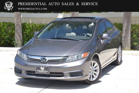2012 Honda Civic for sale at Presidential Auto  Sales & Service in Delray Beach FL