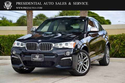 2018 BMW X4 for sale at Presidential Auto  Sales & Service in Delray Beach FL
