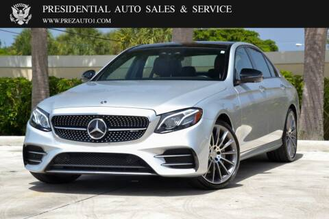 2017 Mercedes-Benz E-Class for sale at Presidential Auto  Sales & Service in Delray Beach FL