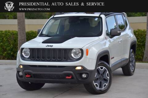 2017 Jeep Renegade for sale at Presidential Auto  Sales & Service in Delray Beach FL