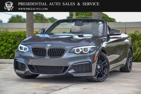 2020 BMW 2 Series for sale at Presidential Auto  Sales & Service in Delray Beach FL