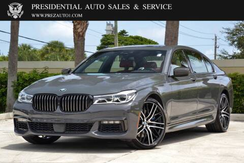2018 BMW 7 Series for sale at Presidential Auto  Sales & Service in Delray Beach FL