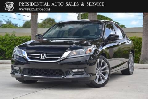 2015 Honda Accord for sale at Presidential Auto  Sales & Service in Delray Beach FL