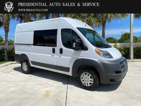 2017 RAM ProMaster Cargo for sale at Presidential Auto  Sales & Service in Delray Beach FL