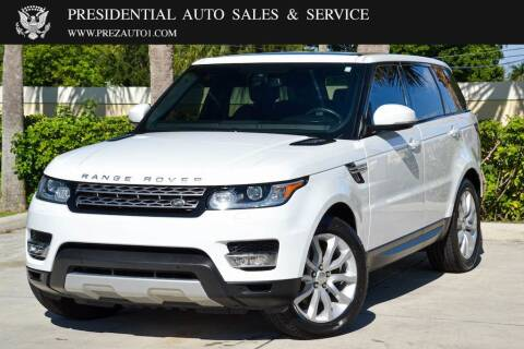 2015 Land Rover Range Rover Sport for sale at Presidential Auto  Sales & Service in Delray Beach FL