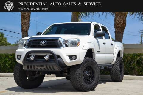 2013 Toyota Tacoma for sale at Presidential Auto  Sales & Service in Delray Beach FL