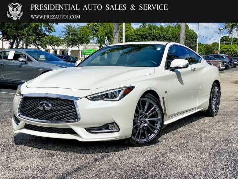 2017 Infiniti Q60 for sale at Presidential Auto  Sales & Service in Delray Beach FL