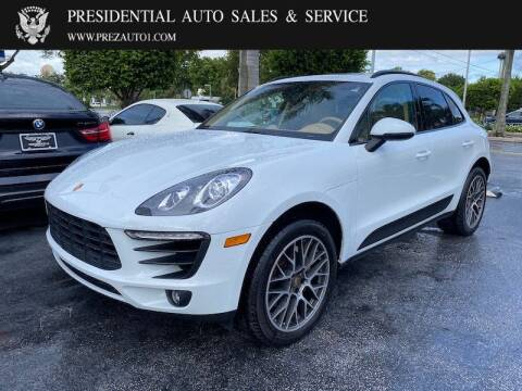 2016 Porsche Macan for sale at Presidential Auto  Sales & Service in Delray Beach FL