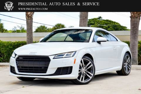 2016 Audi TT for sale at Presidential Auto  Sales & Service in Delray Beach FL