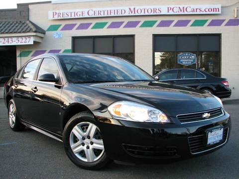 2010 Chevrolet Impala for sale at Prestige Certified Motors in Falls Church VA