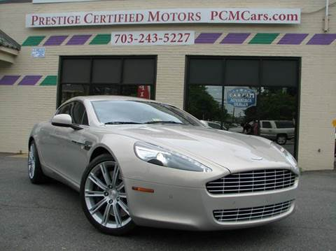 2010 Aston Martin Rapide for sale at Prestige Certified Motors in Falls Church VA