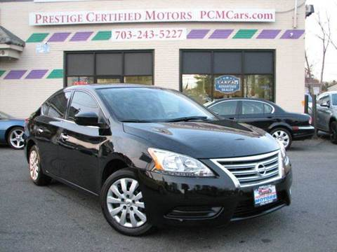 2015 Nissan Sentra for sale at Prestige Certified Motors in Falls Church VA