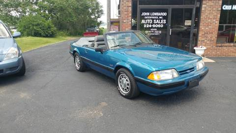 1989 Ford Mustang for sale at John Lombardo Enterprises Inc in Rochester NY