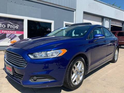 2013 Ford Fusion for sale at AutoPros - Waterloo in Waterloo IA