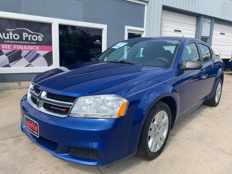 2012 Dodge Avenger for sale at AutoPros - Waterloo in Waterloo IA