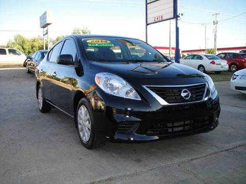 2014 Nissan Versa for sale at AUTO BARGAIN, INC in Oklahoma City OK