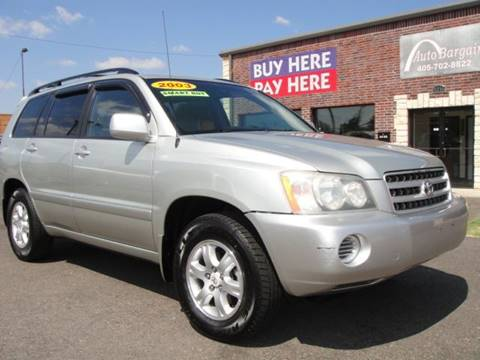 2003 Toyota Highlander for sale at AUTO BARGAIN, INC. #2 in Oklahoma City OK