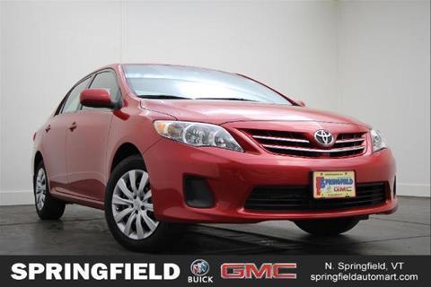 2013 Toyota Corolla for sale in North Springfield, VT