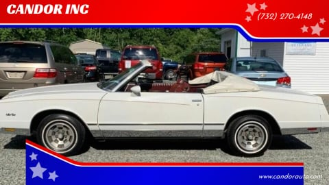 1983 Chevrolet Monte Carlo for sale at CANDOR INC in Toms River NJ