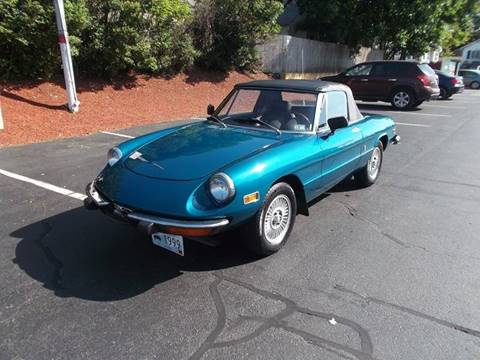 Alfa Romeo Spider For Sale Carsforsalecom - Alfa romeo spider 1974 for sale