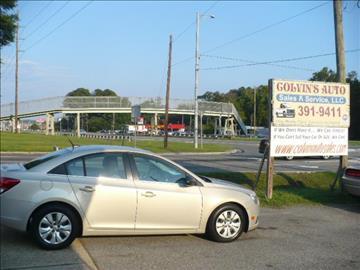 2012 Chevrolet Cruze for sale at Colvin Auto Sales in Tuscaloosa AL