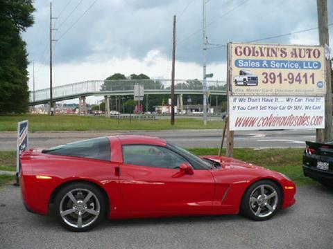 2008 Chevrolet Corvette for sale at Colvin Auto Sales in Tuscaloosa AL