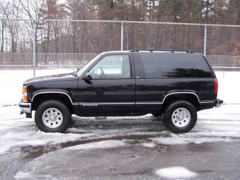 1999 Chevrolet Tahoe for sale at William's Car Sales aka Fat Willy's in Atkinson NH