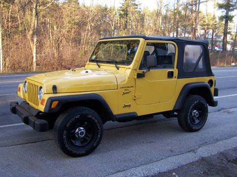 2001 Jeep Wrangler Sport for sale at William's Car Sales aka Fat Willy's in Atkinson NH