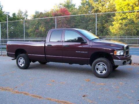 2005 Dodge Ram Pickup 2500 for sale at William's Car Sales aka Fat Willy's in Atkinson NH