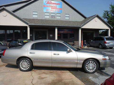2003 Lincoln Town Car for sale at Don Jacobson Automobiles in Houston TX