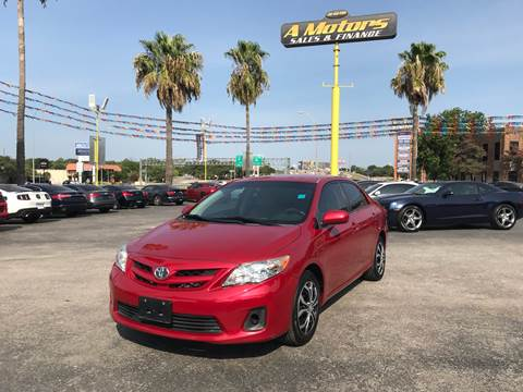 2012 Toyota Corolla for sale at A MOTORS SALES AND FINANCE in San Antonio TX