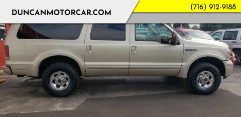 2005 Ford Excursion for sale at DuncanMotorcar.com in Buffalo NY