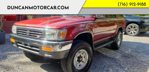 1992 Toyota 4Runner for sale at DuncanMotorcar.com in Buffalo NY