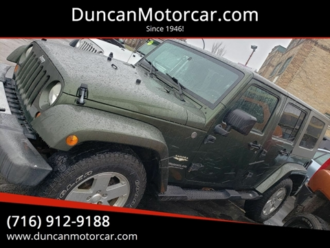 2007 Jeep Wrangler Unlimited Sahara for sale at DuncanMotorcar.com in Buffalo NY