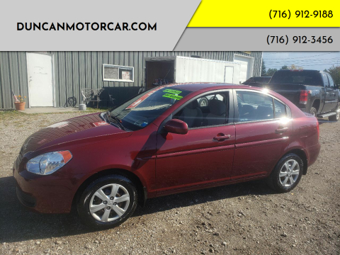 2010 Hyundai Accent for sale at DuncanMotorcar.com in Buffalo NY