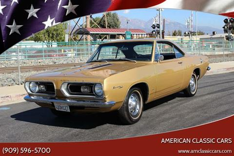 1967 Plymouth Barracuda for sale at American Classic Cars in La Verne CA